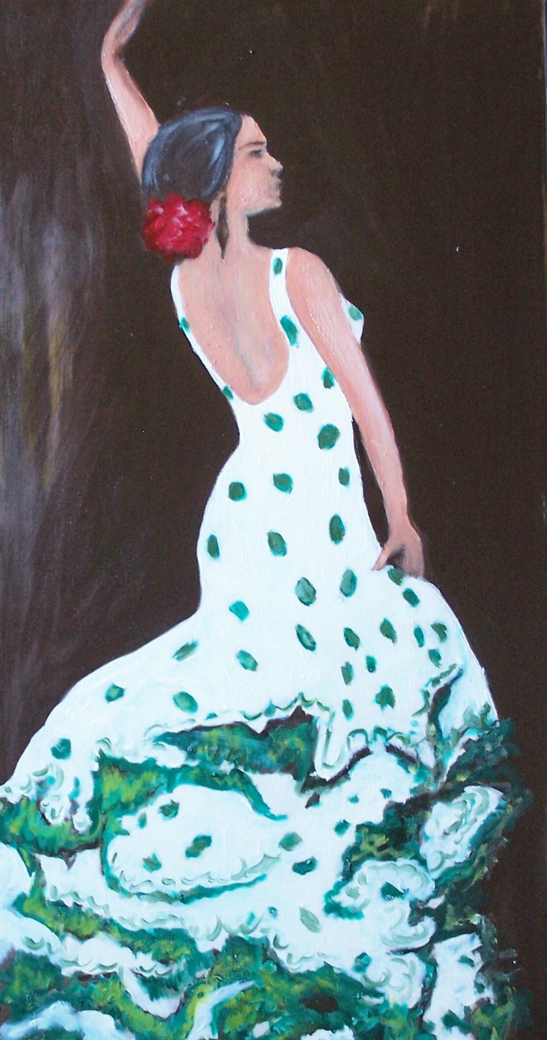 flamenco dancer, 12x24, 2008